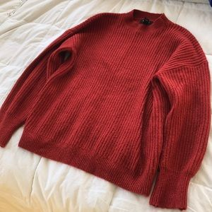 Red turtleneck sweater, forever 21, size M